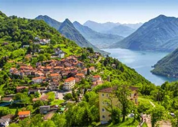 View To Lugano City, Lugano Lake And Monte San Salvatore From Monte Bre, Ticino, Switzerland AdobeStock 149652679 400x